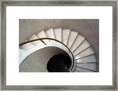 Spiral Stair - Denys Lasdun Framed Print by Peter Cassidy