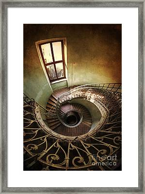 Spiral Staircaise With A Window Framed Print