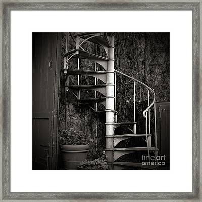 Spiral Staircase Framed Print by Charmian Vistaunet