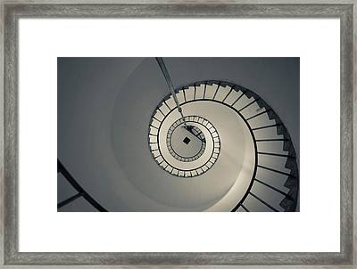 Spiral Staircase In A Lighthouse, Cabo Framed Print by Panoramic Images
