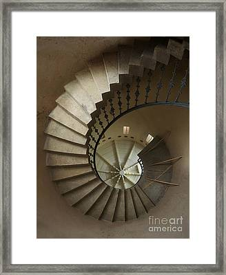 Spiral Staircase In A Tower Framed Print by Jaroslaw Blaminsky