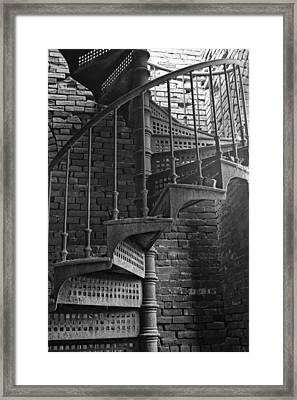 Spiral Staircase In B And W Framed Print
