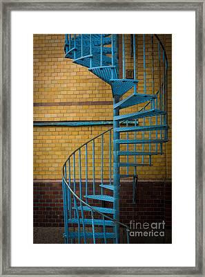 Spiral Staircase Framed Print by Inge Johnsson