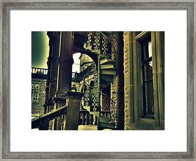Spiral Staircase Framed Print by Salman Ravish