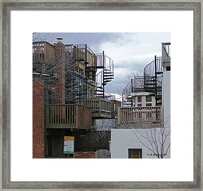 Framed Print featuring the photograph Spiral Stairs by Brian Wallace