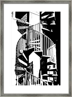 Spiral Stairs Framed Print