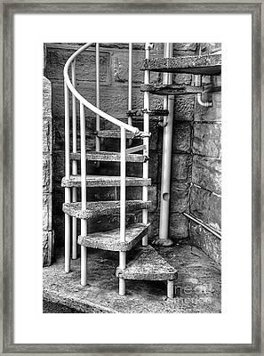 Spiral Steps - Old Sandstone Church Framed Print by Kaye Menner