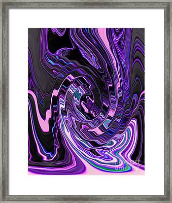 Spiral Swirl Of Purple Lavender Violet And Blue Abstract Design Framed Print by Adri Turner