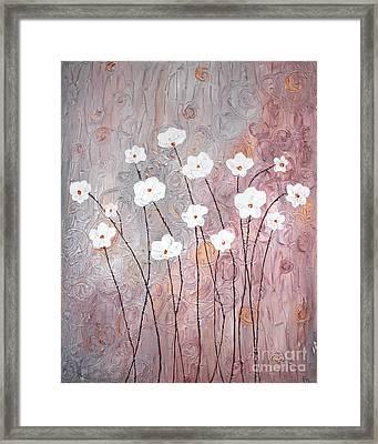 Spiral Whites Framed Print by Home Art