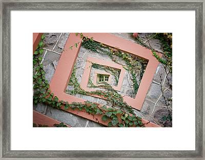 Spiral Window Framed Print