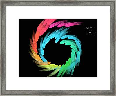 Spiralbow Framed Print by Michael Jordan