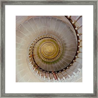 Spirale Du Phare Des Baleines Version Carree Framed Print