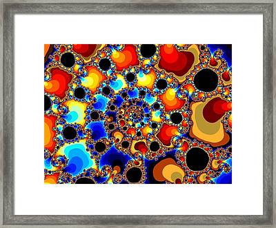 Spiraling Fireballs Framed Print by Ester  Rogers