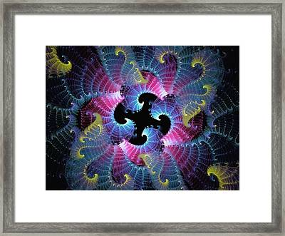 Spiraling Into Chaos Framed Print by Lea Wiggins
