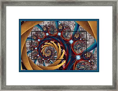 Spiraling Framed Print by Kim Redd