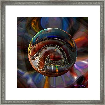 Spiraling The Vatican Staircase Framed Print by Robin Moline