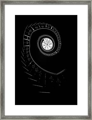 Spirals In The Dark Framed Print