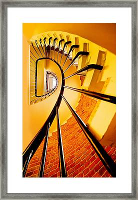 Spirals In Yellow Framed Print
