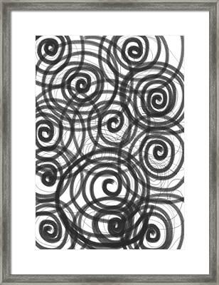 Spirals Of Love Framed Print by Daina White