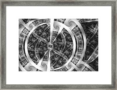 Spirals Spokes And Curves No. 3 Framed Print by Mark Eggleston