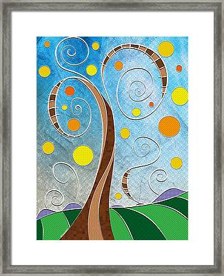 Spiralscape Framed Print by Shawna Rowe