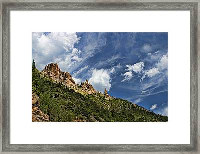 Spires And Sky Framed Print by Gregory Scott