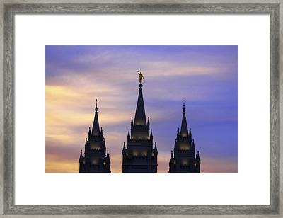 Spires Framed Print by Chad Dutson