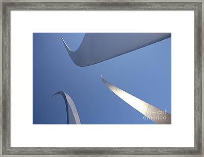 Spires Of The Air Force Memorial In Arlington Virginia Framed Print by William Kuta