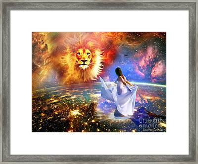 Spirit And Truth Framed Print by Dolores Develde