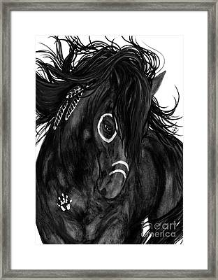 Spirit Feathers Horse Framed Print