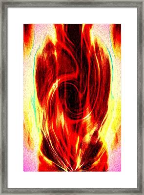 Spirit Fire Of Kudalini Framed Print by Rebecca Phillips