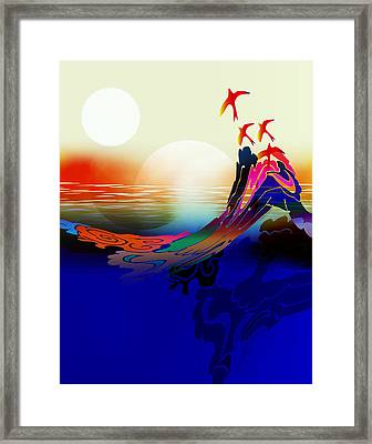 Spirit Flight Framed Print by Bruce Manaka