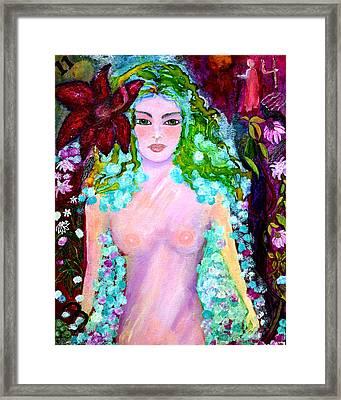 Spirit Garden Framed Print by Patricia Motley