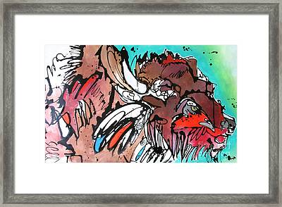 Framed Print featuring the painting Spirit Guide by Nicole Gaitan