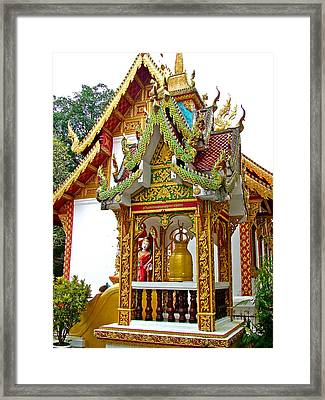 Spirit House At Wat Phrathat Doi Sutep In Chiang Mai-thailand Framed Print