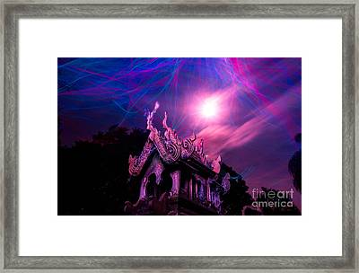 Spirit House In The Supermoon Light Painted Framed Print
