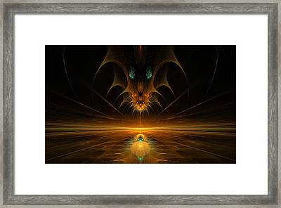 Framed Print featuring the digital art Spirit In The Sky by GJ Blackman
