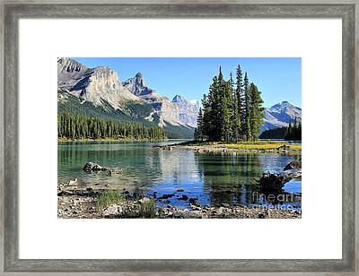 Spirit Island Maligne Lake Framed Print
