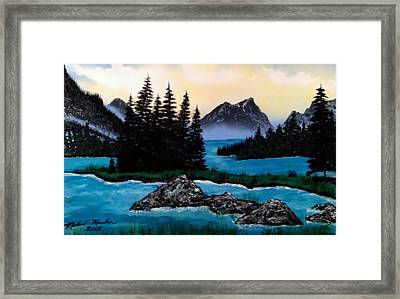 Framed Print featuring the painting Spirit Island by Michael Rucker
