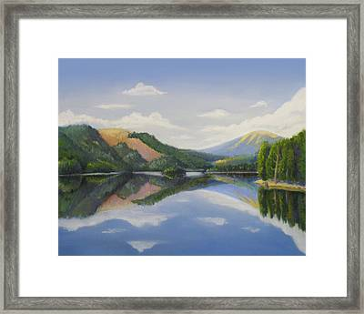 Spirit Lake-off The Deck Framed Print