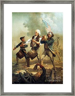 Spirit Of 76 Framed Print by Pg Reproductions