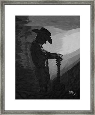 Spirit Of A Cowboy Framed Print