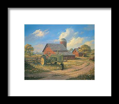 John Deere Framed Prints
