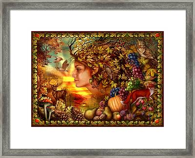 Spirit Of Autumn Framed Print by Ciro Marchetti