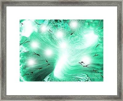 Spirit Of Creation Framed Print by Roxy Riou