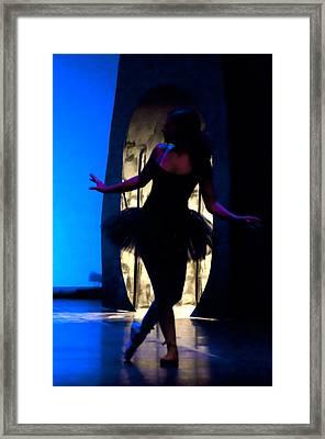 Spirit Of Dance 3 - A Backlighting Of A Ballet Dancer Framed Print