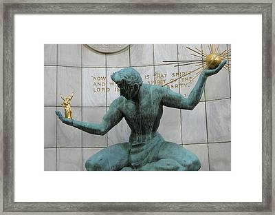 Spirit Of Detroit Framed Print