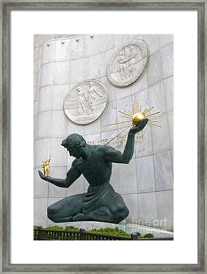 Spirit Of Detroit Monument Framed Print