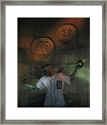 Spirit Of Detroit Tigers Framed Print