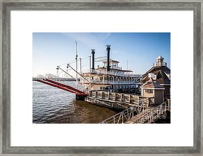 Spirit Of Peoria Riverboat In Peoria Illinois Framed Print